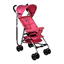 Mee Mee Stylish Light Weight Baby Stroller with Umbrella Folding (Pink)