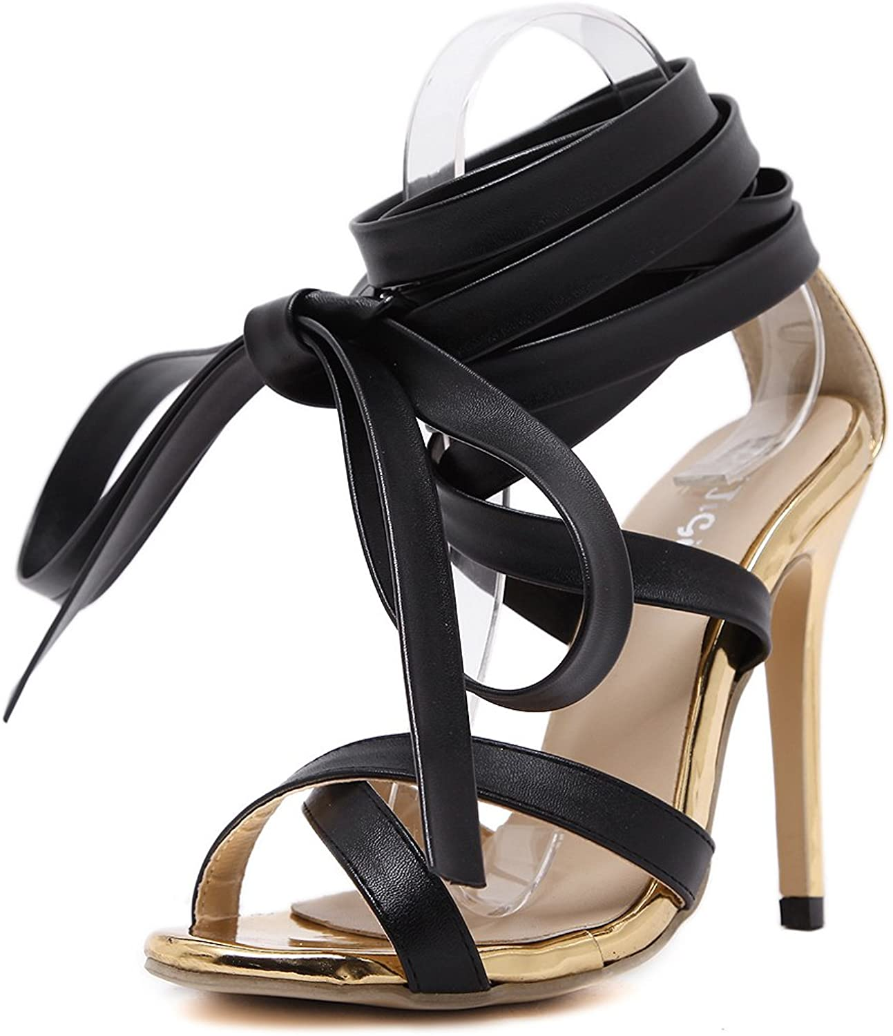 Pit4tk Women Sandals High Heels shoes Summer Peep Toe Ankle Strap Woman Sandals Thick Heel Party shoes
