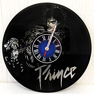 Prince Rogers Nelson Wall Clock Made from 12 inches / 30 cm Vintage Vinyl Record | Prince Musician Gift for Men Boys Husband | Prince Rogers Nelson Gift | Prince Rogers Nelson Musician Merchandise