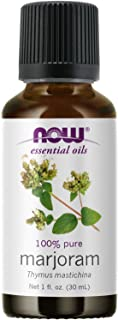 NOW Essential Oils, Marjoram Oil, Normalizing Aromatherapy Scent, Cold Pressed, 100% Pure, Vegan, Child Resistant Cap, 1-O...