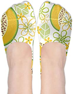 花とメロンのパターン女性ポリエステル綿の靴下女性ボートソックス薄いカジュアルソックスローカットソックス
