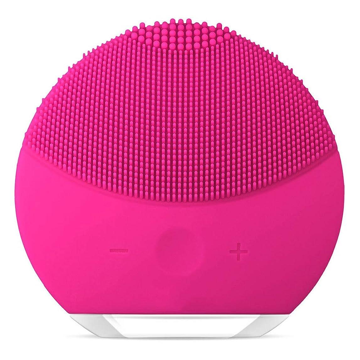 変数推論スリルGOIOD 洗顔ブラシ美顔器 洗顔とマッサージ両立 音波洗顔 電動 防水仕様 ローズ 1個