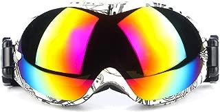 Aooaz Professional Ski Glasses Spherical Anti Fog Colorful Ski Goggles Mountain Mirror Sports Goggles