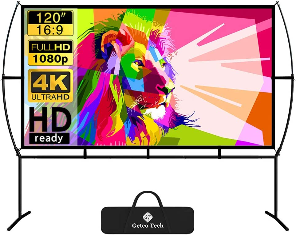 High order Cheap mail order shopping Projector Screen with Stand Foldable 120 Movie I Portable
