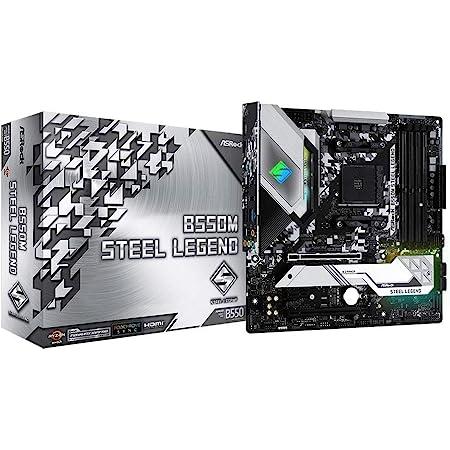 ASRock AMD Ryzen 5000シリーズ (Soket AM4)対応 B550チップセット搭載 Micro ATX マザーボード 【国内正規代理店品】B550M Steel Legend