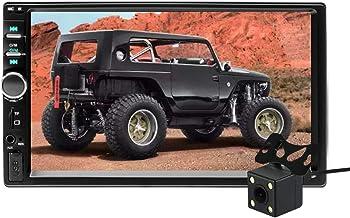 Aigoss Radio Coche Bluetooth para 2 DIN Reproductor MP5 de 7