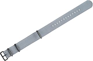 22mm Military MoD Ballistic Nylon G10 Premium Watch Band - Grey - w/Black PVD Buckle