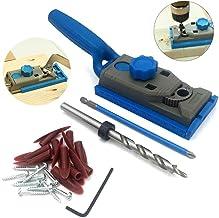 XingYue Direct Juego de carpintería Agujero de Orificio Jig Set Guía de Taladro Guía para Taladro de Madera Kreg Piloto Dowelling Agujero Sierra