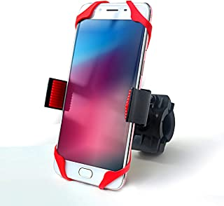 VTUVIA Cell Phone Holder/Stand/Mount for Electric Bike Motorcycle Handlebars,  Adjustable and Universal,  Compatible with Phones 2.3- 3.3 Wide(Red)
