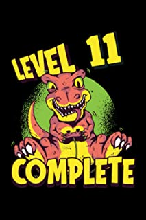 Level 11 Complete: Gaming Lined Notebook incl. Table of Contents on 120 Pages   Gaming Gamers Journal   Gift Idea for Game...