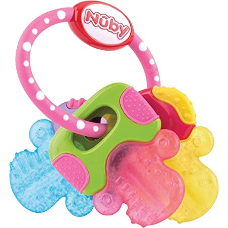 Nuby IcyBite Teether ID567 - Chiavi massaggiagengive con gel 3m+, multicolore