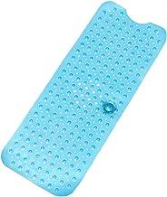 Bathtub Mats Anti-Slip Tub Mat Shower Mat Non Slip PVC Bath Mats 101 * 40.5CM (Blue)