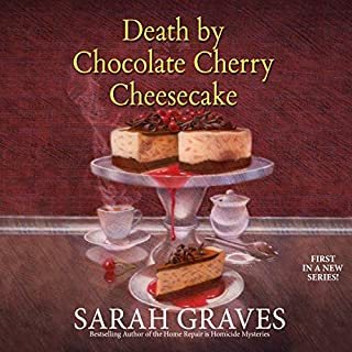 Death by Chocolate Cherry Cheesecake                   By:                                                                                                                                 Sarah Graves                               Narrated by:                                                                                                                                 Susan Boyce                      Length: 9 hrs and 31 mins     65 ratings     Overall 4.4