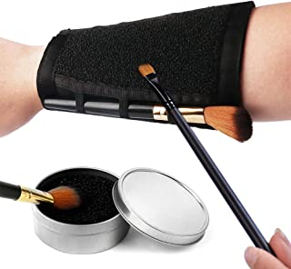 Pinkiou Makeup Brushes Color Removal Cleaner Sponge + Switch Armband Cleaner Arm Sponge 2 in 1 Set