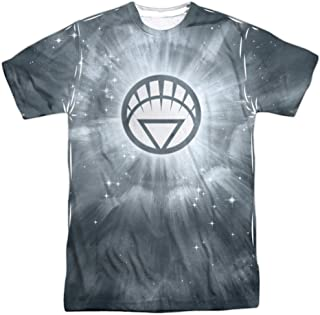 Green Lantern White Energy Adult T-Shirt White
