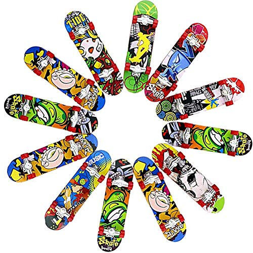 Katurn 12 Stücke Mini Skateboard, Packung Skateboard Finger Für DIY Montage Skateboard Spielzeug Sport Spiele Kinder Geschenk (zufällige Farbe)