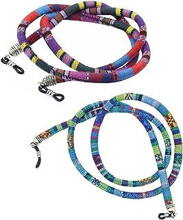 9de485d51a Homyl 2 Piezas Cuerda Algodón de Anteojos Sostenedor De Gafas de Sol 28 ''  Diseño