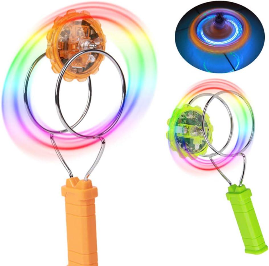 Rongzou Kids LED Light Magnetic Gyro Wheel Hand Spinner Magic ...