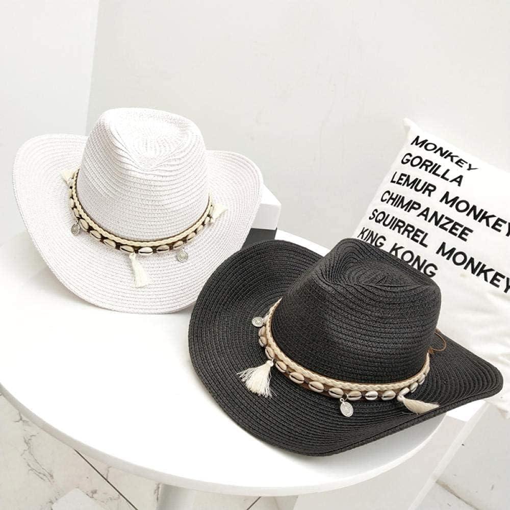 BCHDREUU Beach Hat Womens Sun Hat 1PCS Outdoor Sun Hat Western Cowboy Hat Sun Hat Mountaineering Knight Hat Travel Sun Hat Sunhat Womens (Color:H)