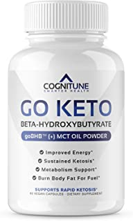 Go Keto Diet Pills & Energy Booster - Advanced Exogenous Ketone Supplement with BHB Salts & MCT Oil Powder - Ketogenic Wei...