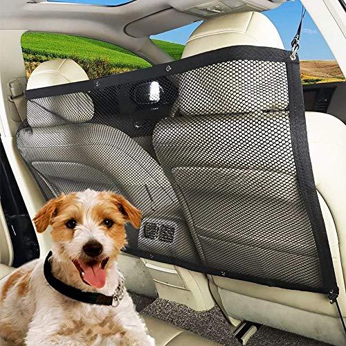 Pet Barrier Sécurité Car Net, Safety Car Universal Net Hatchback Guard Dog Mesh Pet barrière de Protection pour Chiens Chats Chiot, 115X62cm