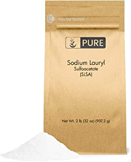 Sodium Lauryl Sulfoacetate by Pure Organic Ingredients, 2 lb. (32 oz.), Eco-Friendly Packaging, Ideal Bath Bomb Additive, Gentle on Skin, Surfactant, Latherer