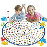 GILOBABY Board Game for Kids and Family, Little Detective Card Game Memory Matching Tabletop Game, Memory Educational Toys for Kids Boys Girls 3+ Years Old