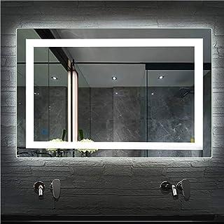 Espejo de Baño para Tocador y Espejo Espejo de Baño con Iluminación LED/Espejo de Pared Grande/Espejo de Luz/Espejo Baño 2 Tamaños (600x800mm)