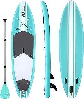 comprar comparacion Tabla Hinchable de Paddle Surf + SUP Paddle Remo de Ajustable | Bomba | Mochila | Aleta Central Desprendible | Kit de Repa...