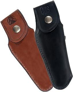 Laguiole Actiforge - Estuche de piel para cuchillo, fabricación artesanal francesa, marrón, sin afilador