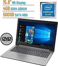 Lenovo Ideapad 330 15.6-inch HD Laptop PC, Intel Pentium Silver Quad-Core N5000 Up to 2.7GHz, 4GB DDR4 SDRAM, 500GB HDD, DVD-RW, Bluetooth, 802.11ac WiFi, HDMI, Intel UHD Graphics 605, Windows 10