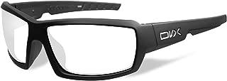 DVX Detour - ANSI Z87.1 - Clear Lens/Matte Black Frame (OSHA Compliant Safety Glasses)
