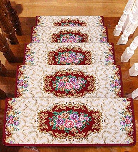 ZENGAI Lavabile in Lavatrice Step Pad Scale Tappetino Pad 5 Pezzi Continentale Fondo Autoadescante Tappetino da Passeggio (Colore : 5#-5 Pieces, Dimensioni : 90x(24+3) cm)