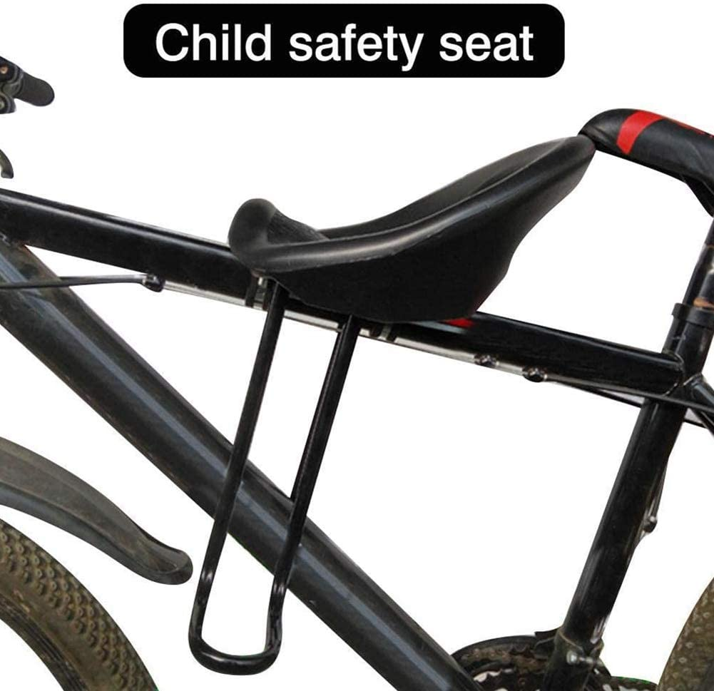 Denpetec Kids Bike Seat for Mountain Bikes,Bicycle Kids Front Seat with Back Rest Cushion & Foot Pedals for Children 2-8 Years,Suitable for Most Mountain Bikes