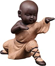 Baoblaze Small Monk Ornaments Kung Fu Buddha Statue Tea Set Home Garden Tea Tray Figurine for Kung Fu Tea Tray Car Bookshe...