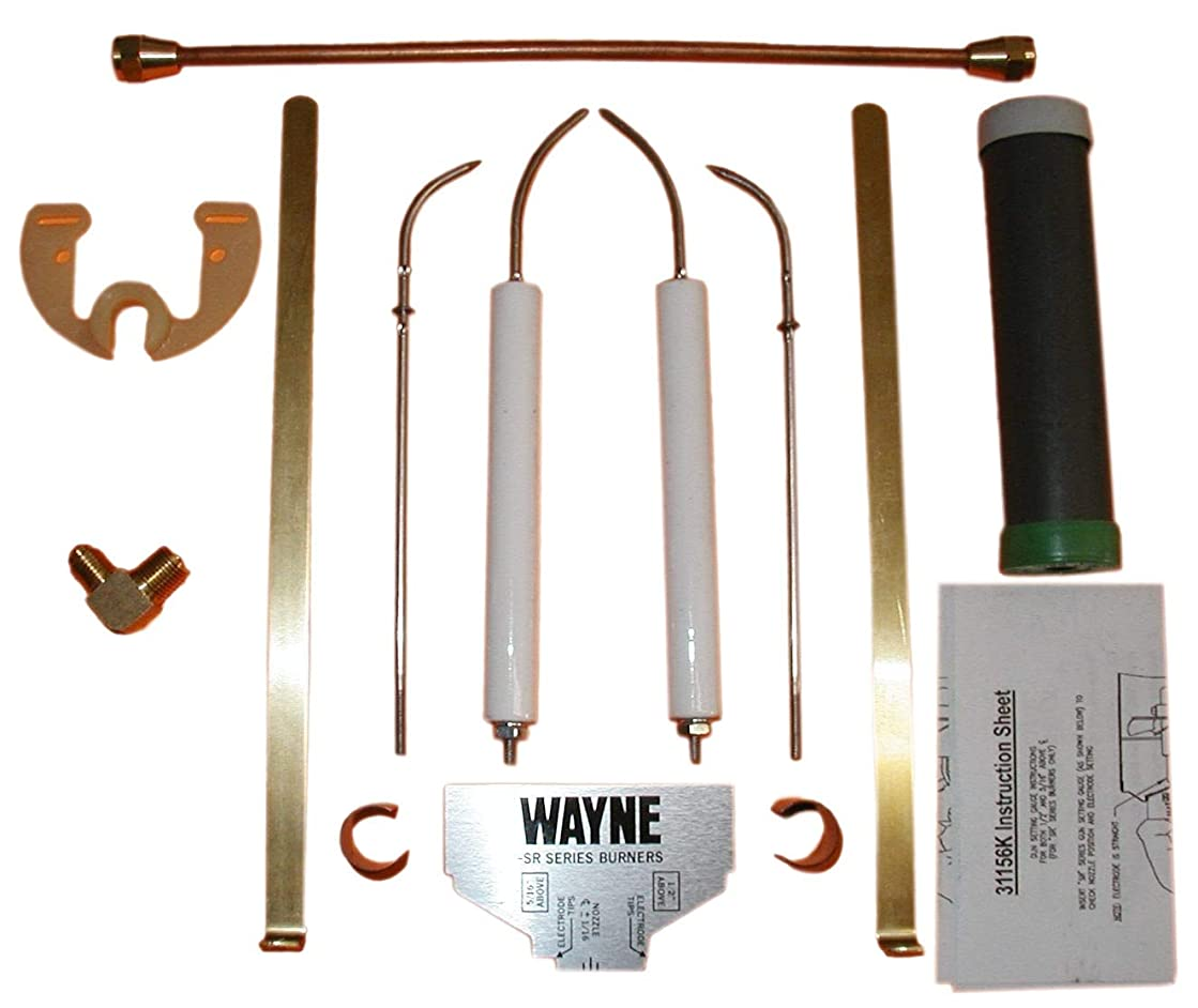 Wayne Oil Burner 31156K Electrode Tune Up Kit Fits Models M MSR MH ER ERA EH EHA EHASR OE OEA
