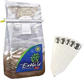 Exhale 365 - Self-Activated CO2 Bag Homegrown for Grow Rooms & Tents + Stakes