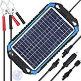 SUNER POWER 12V Solar Car Battery Charger & Maintainer - Portable 6W Solar Panel Trickle Charging Kit for Automotive,...