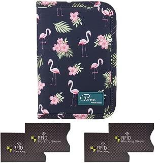 SQSM Passport Wallet Holder for Women,RFID Blocking Travel Waterproof Credit Card&Money Bag Multifunctional,Travel Wallet Passport Organiser Case with Zipper (Navy)