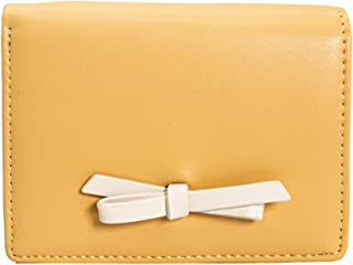 MINISO Small Wallet Purse Clutch with Card Slots and Coin Holder for Girls,Women,Ladies (Yellow)
