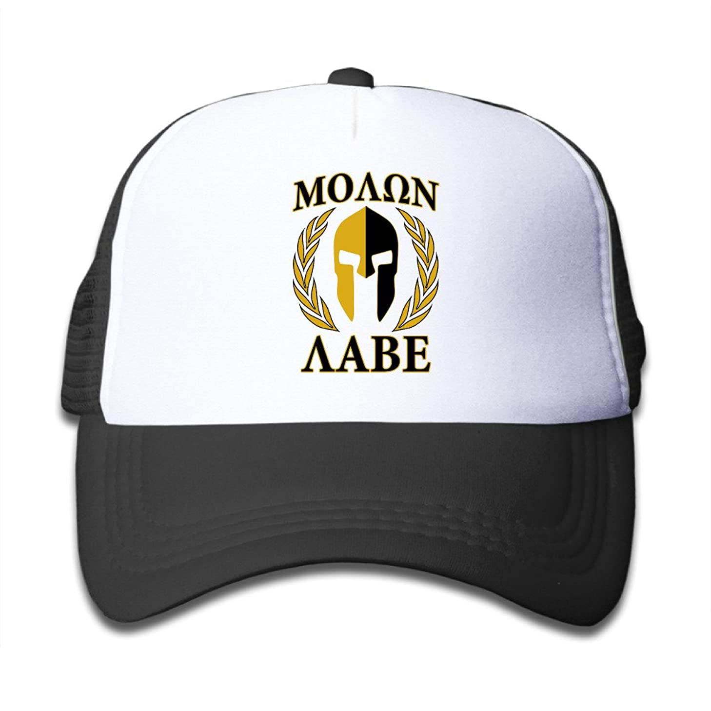 Molon Labe Golden Laurels Mask Youth Mesh Snapback Cap