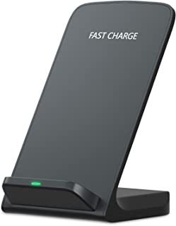Zenpard iPhone Xs Max Fast Wireless Charger, Charging Stand for Samsung Galaxy Note 9 8 S10 S9 S8 Plus S7 S7 Note 5 S6 Edge Plus, Qi Standard Charge for Apple iPhone X/XR (AC Adapter Not Included)