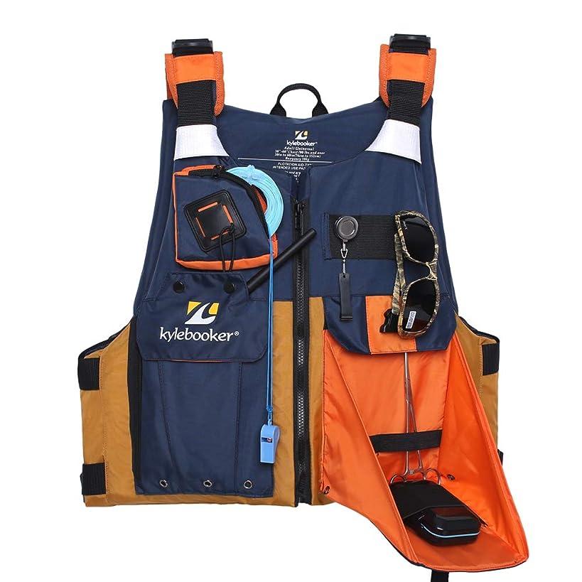 Kylebooker Fly Fishing Vest Multifunction Breathable Backpack Adjustable for Men and Women