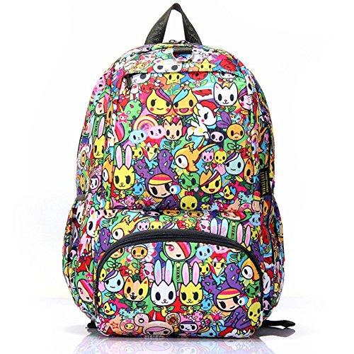 Sincere® Fashion Backpack / Zipper Sacs à dos / Rue mode / Multifonction / Mode schoolbag / loisirs sac à main / polyester sac imperméable à l'eau 2