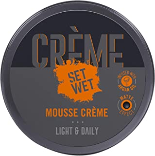 Set Wet Mousse Hair Crème (Cream) 60g, Daily Styling, Ultra-Light, Non-Sticky, Matte Finish, Easy wash off, With Argan Oil...
