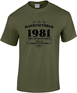 Bang Tidy Clothing 40th Birthday Gifts for Men Manufactured 1981 T Shirt