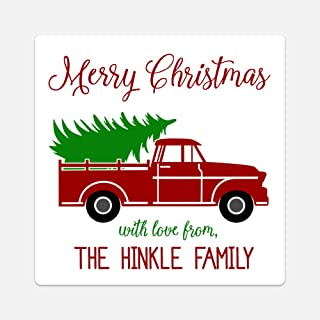 Oh Baby! Stickers & More Personalized Christmas Tree Truck Gift Tags - Set of 20 Customized Labels