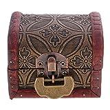 B Blesiya - Pequeño baúl de Madera Retro para almacenar/Mostrar Joyas, Brazalete, Collar y Broche