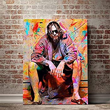 NATVVA Wall Posters Big Lebowski Toilet Canvas Art Wall Art Poster Wall Decor Prints Painting Picture Artwork Home Decoration for Living Room Bedroom No Frame