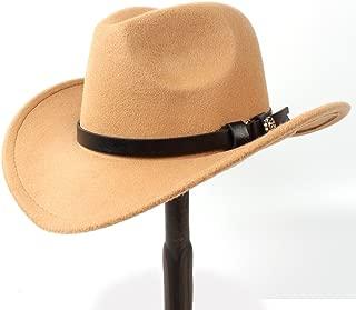 Ruiyue Western Cowboy Hat,Fashion Elegant Felt Cowgirl Sombrero Caps With Buckle Belt Hat For Women